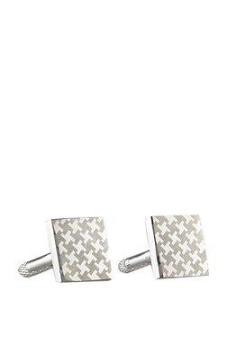Forst Silver Houndstooth Metal Cufflinks