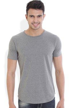 ROCX Grey Slim Fit Round Neck T-Shirt