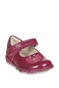 Clarks Ella Fly FST Berry Mary Jane Shoes