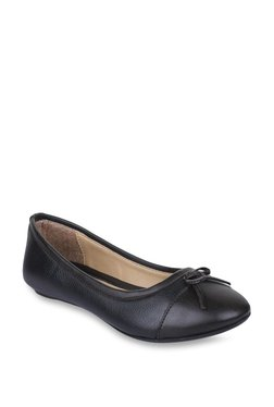 Bruno Manetti Dark Brown & Black Flat Ballets