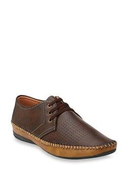 Elixir Man Dark Brown & Tan Derby Shoes
