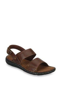 Red Tape Dark Brown Back Strap Sandals