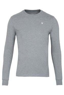Woodland Grey Crew Neck Full Sleeves Sweatshirt
