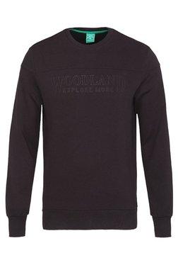 Woodland Black Round Neck Sweatshirt