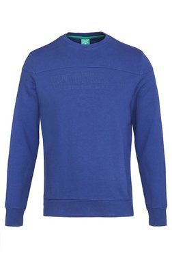 Woodland Blue Round Neck Full Sleeves Sweatshirt