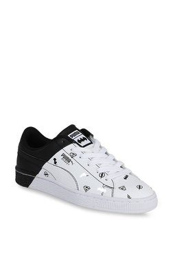 Puma Basket Jr Justice League White & Black Sneakers