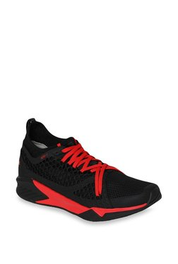 Puma Ignite XT Netfit Black   Flame Scarlet Training Shoes f6977bcf5