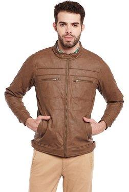 Duke Brown Regular Fit Solid Jacket