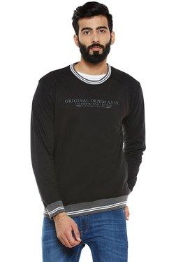 Duke Black Round Neck Sweatshirt