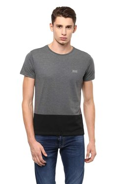 773f3ccf Allen Solly Wimbledon Grey Textured T-Shirt Best Deals With Price ...