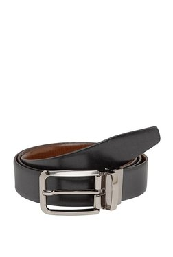Teakwood Leathers Black Solid Leather Narrow Belt