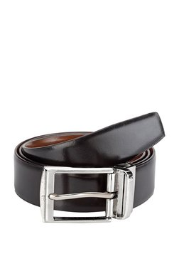 Teakwood Leathers Black Solid Leather Narrow Belt - Mp000000002350555
