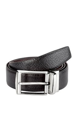 Teakwood Leathers Black Solid Leather Narrow Belt - Mp000000002350140