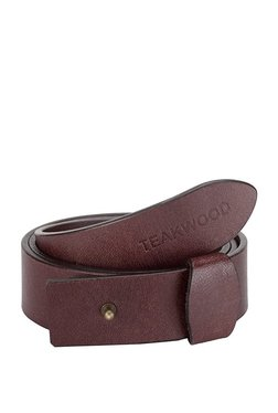 Teakwood Leathers Burgundy Solid Leather Narrow Belt