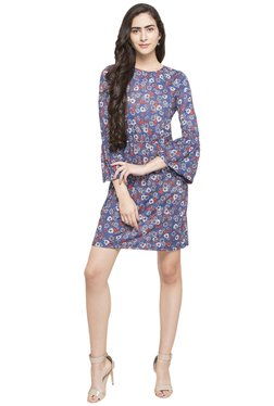 Globus Blue Floral Print Dress