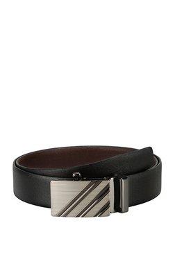 Teakwood Leathers Black Textured Leather Narrow Belt