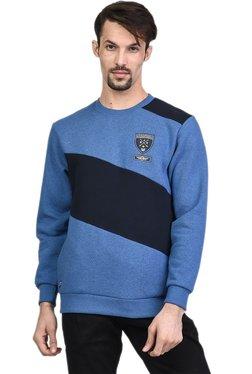 Octave Blue & Black Round Neck Sweatshirt