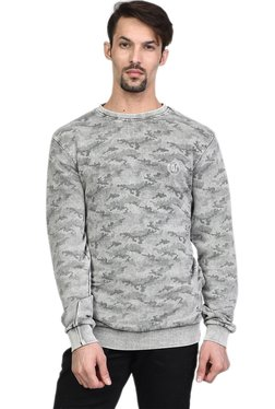 Octave Grey Full Sleeves Round Neck Regular Fit Sweatshirt