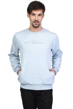 Octave Sky Blue Round Neck Regular Fit Sweatshirt