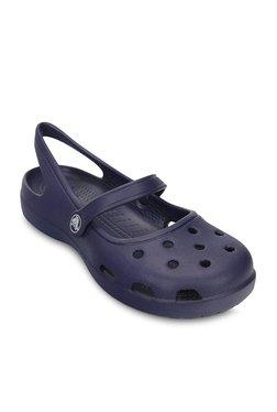 803af28d53c58 Crocs Shayna Nautical Navy Sling Back Sandals