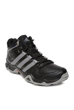 Adidas Iron Trek Mid Top Black & Grey Trekking Shoes