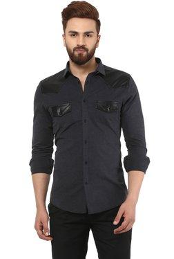 Mr Button Black Slim Fit Shirt