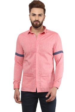 Mr Button Pink Slim Fit Shirt