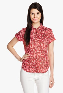 Levi's Red Printed Blouse