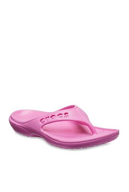 Crocs Baya Party Pink Flip Flops