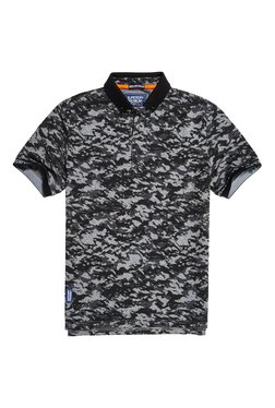 Superdry Mid Grey Camo Print Polo T-Shirt
