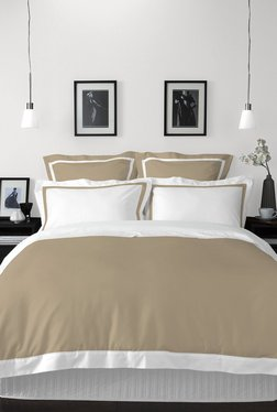 4c3c5c675 Spaces White   Beige Solid Cotton King Bed Sheet Set