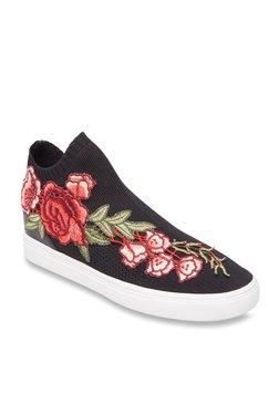 8ca2811e9d68 Steve Madden Sly-P Black Ankle High Sneakers