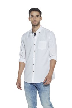 Westsport Casual By Westside White Button-Down Collar Shirt