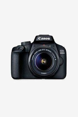 Canon EOS 3000D Kit (EF S18-55 III) DSLR Camera 16 GB Card + Carry Case (Black)