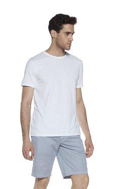 Westsport Casual Light Blue Slim Fit T-Shirt