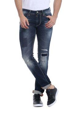 Killer Dark Blue Distressed Skinny Fit Jeans