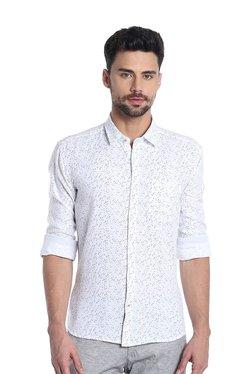 Killer White Printed Regular Fit Shirt 43c253bb7