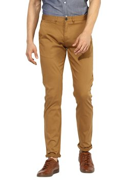 Red Tape Khaki Regular Fit Mid Rise Chinos
