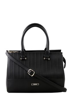 CERIZ Black Panelled Handbag