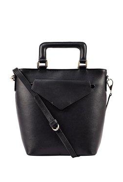Hidesign X Kalki Evolve 01 Black Solid Leather Sling Bag