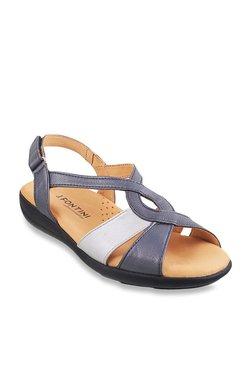 284325b44ef J. Fontini by Mochi Navy   White Back Strap Sandals