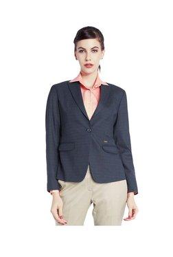 Park Avenue Blue Full Sleeves Blazer