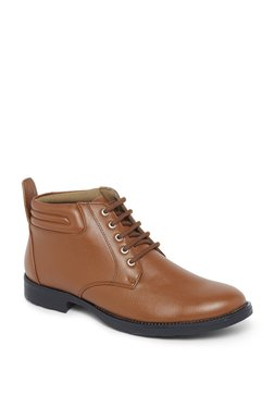 Zudio Tan Faux Leather Boots