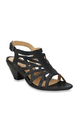 4004cff1c2acb La Briza Plog Black Back Strap Sandals