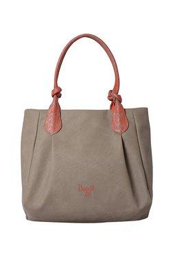 Baggit L Zylose Y G Z Creamy Grey Printed Shoulder Bag