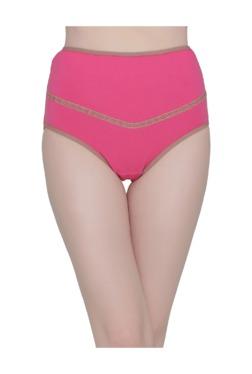 Clovia Pink Maternity High Waist Hipster Panty