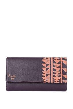 Baggit Lwxe4 Slim Y G 1 Emily Wine Purple Tri-Fold Wallet