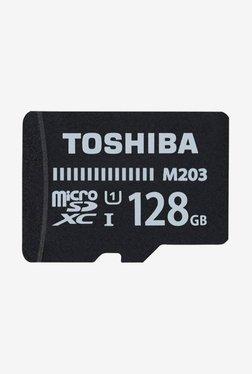 Toshiba M203 128 GB MicroSDXC Memory Card (Black)