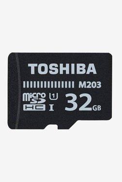 Toshiba M203 32 GB MicroSDHC Memory Card (Black)