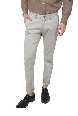 Basics Light Grey Slim Fit Trousers